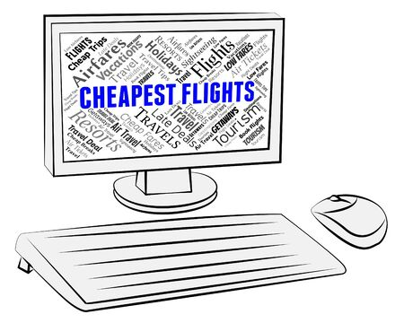 cheaper: Cheapest Flights Indicating Low Cost And Cheaper