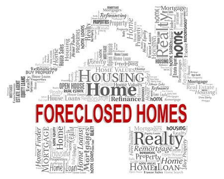 foreclosed: Forclosed Homes Indicating Foreclosure Sale And Repossessed