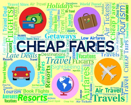 cheaper: Cheap Fares Showing Low Cost And Cheaper