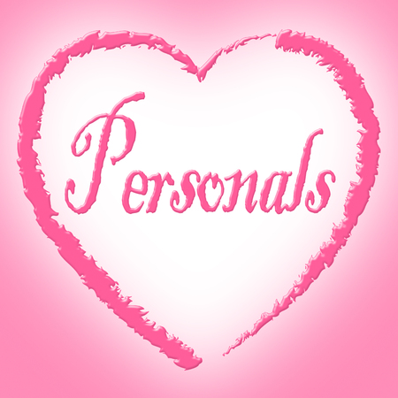 classifieds: Personals Heart Indicating In Love And Search Stock Photo