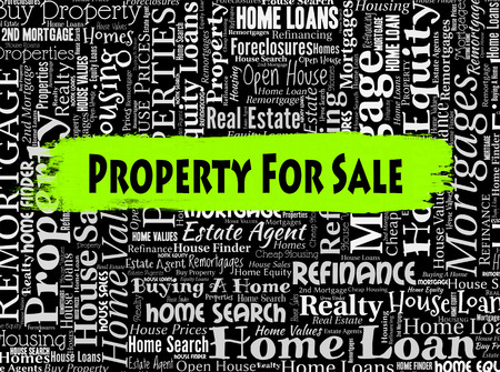 residential market: Property For Sale Representing On Market And Residential Stock Photo