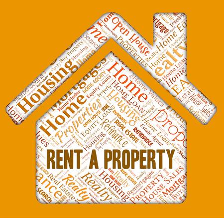 habitation: Rent Property Indicating Real Estate And Habitation Stock Photo