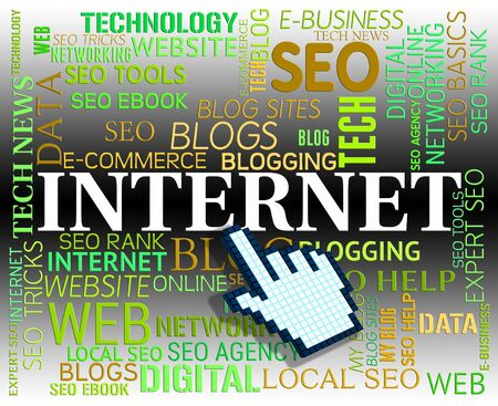 tec: Internet Word Meaning High Tec And Website