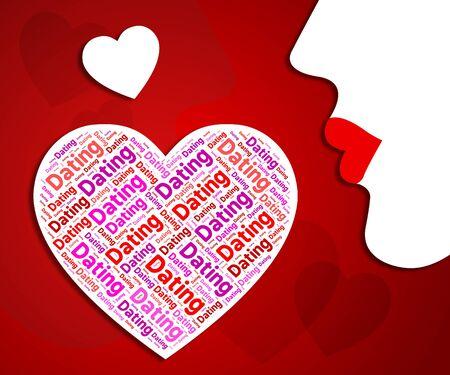 sweethearts: Dating Heart Representing Date Passionate And Romance Stock Photo