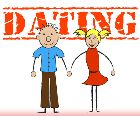 sweethearts: Dating Couple Showing Friendship Partner And Date