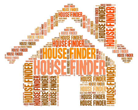 finders: House Finder Meaning Search For And Property Stock Photo