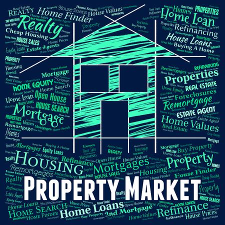 Mercato immobiliare che rappresenta in vendita e casa