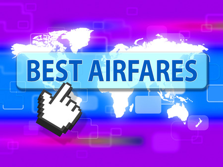 cost estimate: Best Airfares Meaning Selling Price And Sale Stock Photo