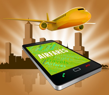 cost estimate: Airfares Online Meaning Selling Price And Flights 3d Rendering