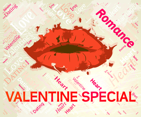 specials: Valentine Special Showing Valentines Day And Specials Stock Photo