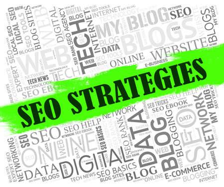 optimizing: Seo Strategies Representing Strategic Strategy And Website