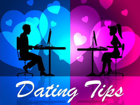 suggestions: Dating Tips Representing Online Assistance And Advice Stock Photo