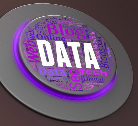 tec: Data Button Representing Hi Tec And Tech 3d Rendering