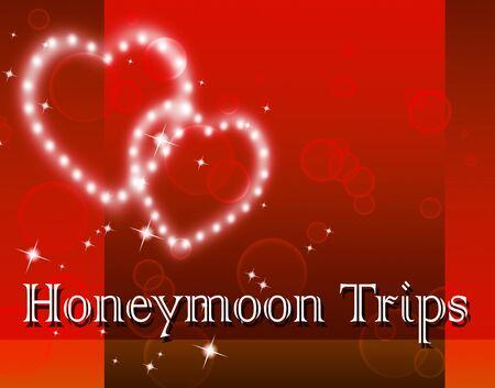 honeymoons: Honeymoon Trips Indicating Travel Guide And Destination Stock Photo