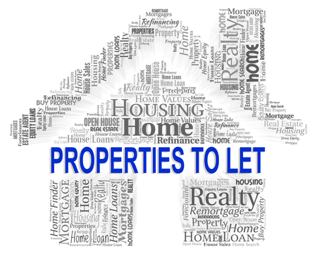 let: Property To Let Indicating For Rent And Offices