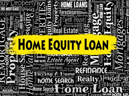 loaning: Home Equity Loan Representing Properties Lends And Funds