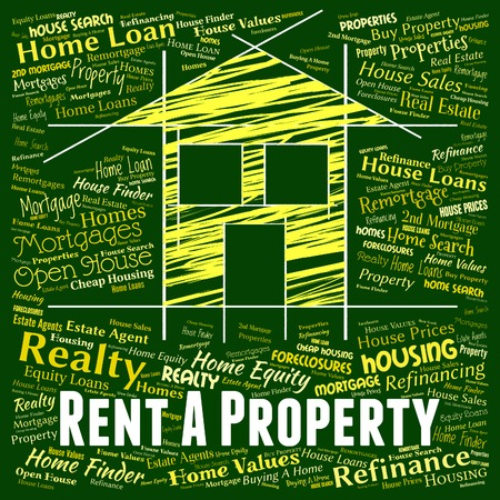 rented: Rent Property Indicating Real Estate And Residential