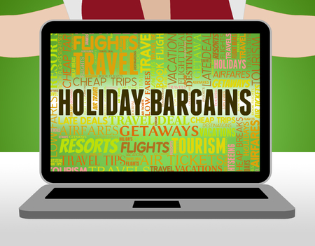 vacationing: Holiday Bargains Indicating Reduction Break And Vacationing