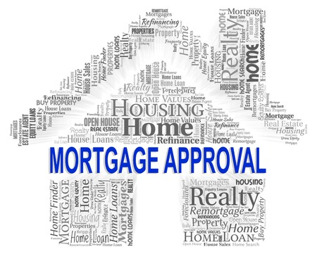 approval: Mortgage Approval Showing Housing Mortgages And Buying Stock Photo