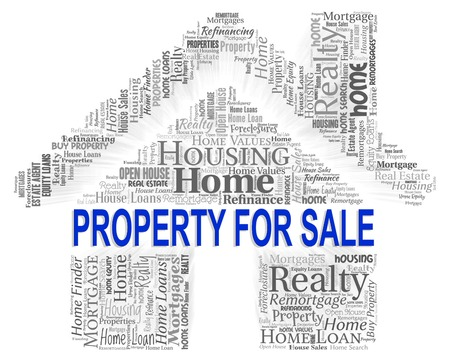 property for sale: Property For Sale Representing Real Estate And Home Stock Photo