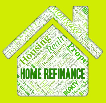 residential home: Home Refinance Representing Residential Refinanced And Debt