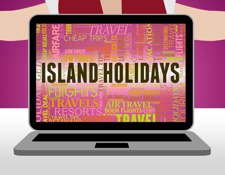 atoll: Island Holidays Indicating Atoll Vacational And Break