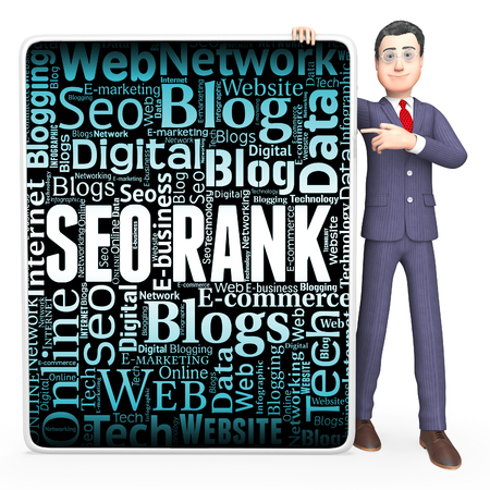 optimized: Seo Rank Meaning Search Engine And Optimized 3d Rendering