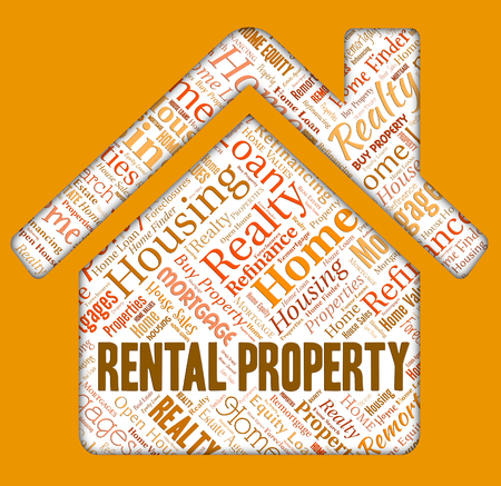 rental property: Rental Property Indicating Real Estate And Renter