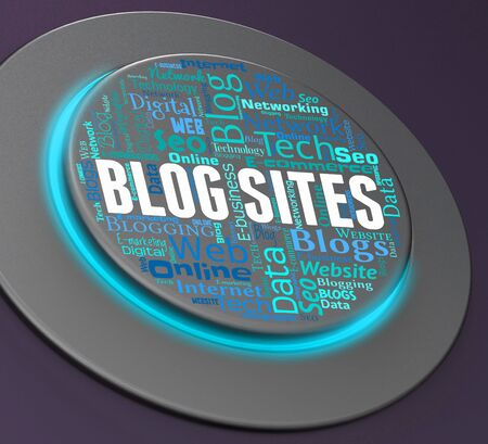 bloggers: Blog Sites Meaning Bloggers Network And Weblog 3d Rendering