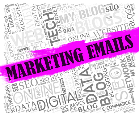 email lists: Marketing Emails Showing Social Sales And Media