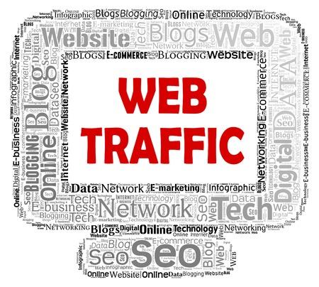 web traffic: Web Traffic Indicating Pc Website And Www Stock Photo