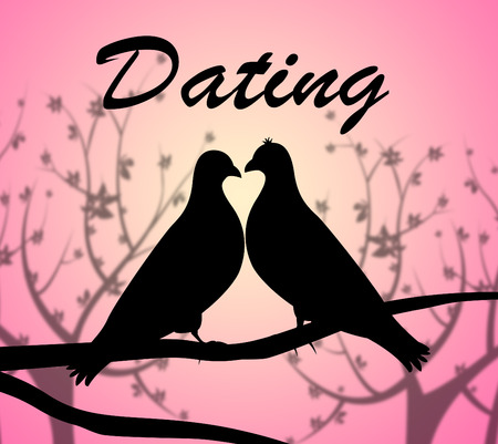 sweethearts: Dating Doves Indicating Love Birds And Relationship Stock Photo