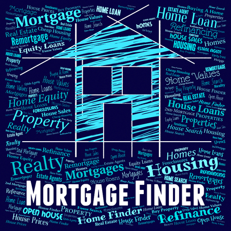 finders: Mortgage Finder Indicating Real Estate And Discover