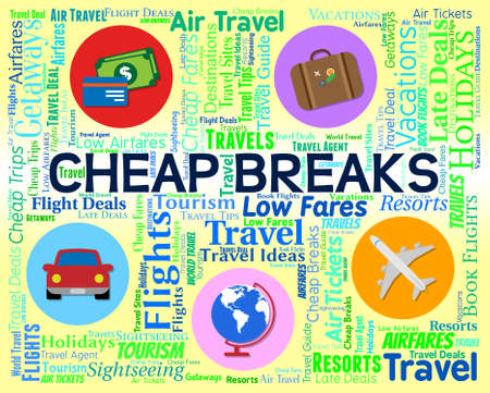 cheapest: Cheap Breaks Indicating Low Cost And Sale