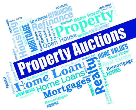 auctions: Property Auctions Indicating Real Estate And Sale