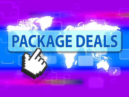 tour operator: Package Deals Showing Fully Inclusive And Offer Stock Photo