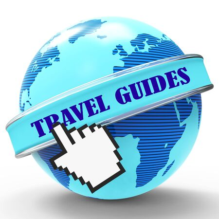 guides: Travel Guides Meaning Travels Vacations And Journeys 3d Rendering