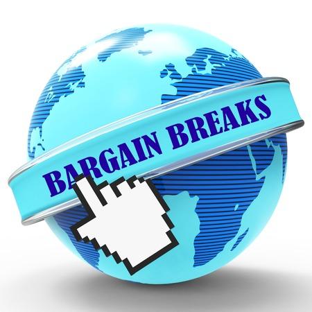 breaks: Bargain Breaks Showing Short Holiday And Getaway 3d Rendering