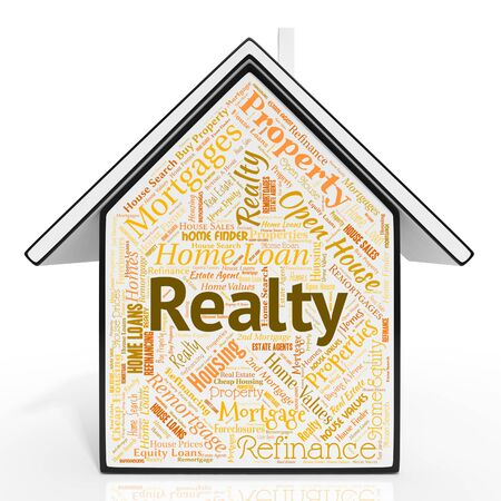 realty: Realty House Meaning For Sale And Housing Stock Photo