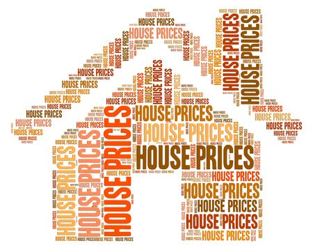 house prices: House Prices Showing Values Value And Valuations