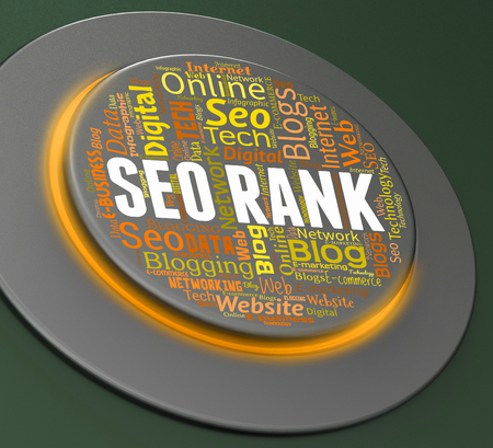 push button: Seo Rank Showing Push Button And Online 3d Rendering Stock Photo