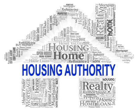 Housing Authority Indicating Low Income And Assistance Stock Photo
