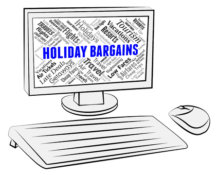 bargains: Holiday Bargains Meaning Discounts Clearance And Promo Stock Photo