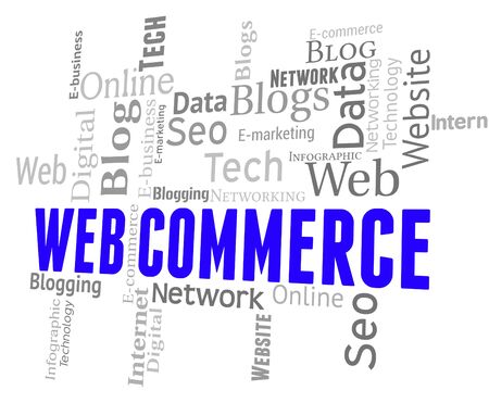 web commerce: Web Commerce Representing Ecommerce Text And Buying
