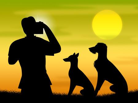 snapshots: Dogs Photo Representing Camera Photography And Snapshots