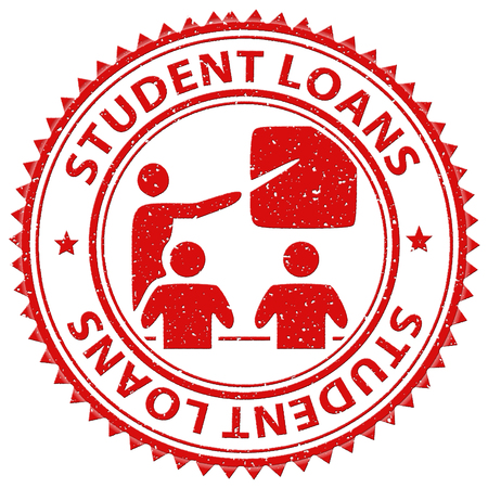 loaning: Student Loans Showing Loaning Learning And Students