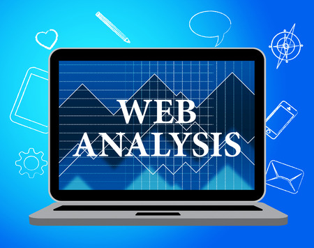 investigates: Web Analysis Representing Data Analytics And Analyse Stock Photo
