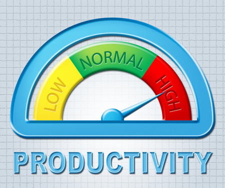 excessive: High Productivity Representing Performance Excessive And Productive Stock Photo
