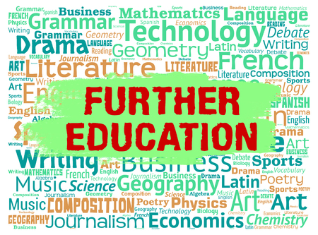 further: Further Education Showing Learn Study And Tertiary