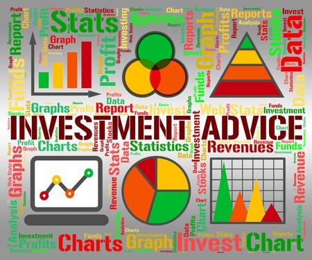 retour: Beleggingsadvies aangeven Investor geïnvesteerd en antwoorden Stockfoto